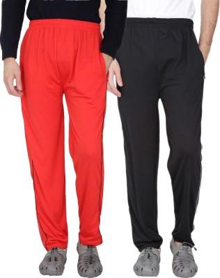 Fizzaro Solid Men's Red, Black Track Pants