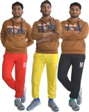 Shaun Solid Men's Red, Yellow, Black Tra...