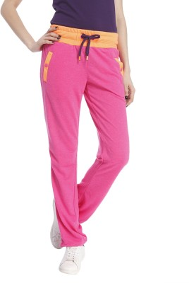 Only Solid Women's Pink Track Pants