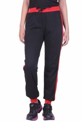 DFH Solid Women's Black Track Pants at flipkart