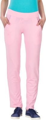Lovable Solid Women's Pink Track Pants