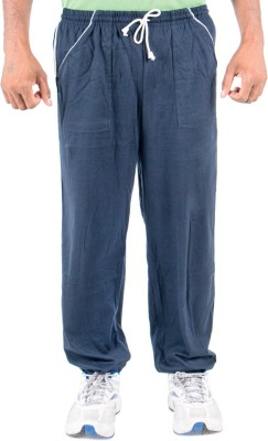Funky Guys Solid Men's Dark Blue Track Pants