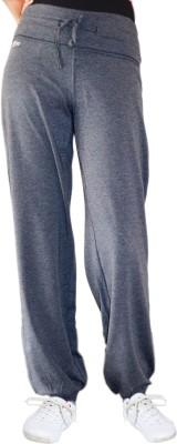 Ativo Solid Girl's Grey Track Pants