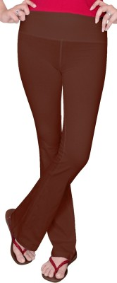 Comfty Solid Women's Brown Track Pants