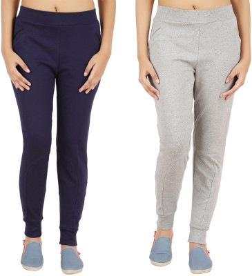Notyetbyus Solid Women's Grey, Dark Blue Track Pants