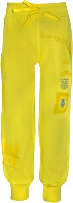 Gee & Bee Printed Boy's Yellow Track Pants