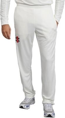 Gray Nicolls Solid Men's White Track Pants