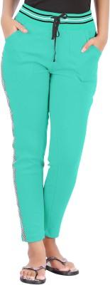 Hbhwear Pro Solid, Striped Women's Light Green Track Pants