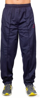 Ocra Sports Solid Men's Blue, Red Track Pants