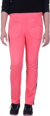 Rafters Solid Women's Orange, Dark Blue Track Pants