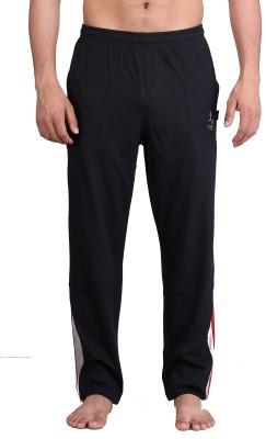 Vego Zip Pocket / Sied Panal Solid Men's Black Track Pants