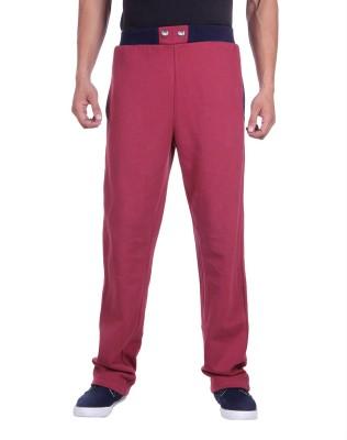 Deutz Solid Men's Red Track Pants