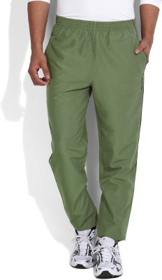 Reebok Solid Men's Green Track Pants