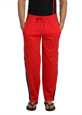 John Caballo Solid Men's Red Track Pants