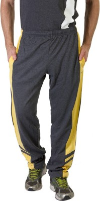 Masch Sports Solid Men's Grey, Yellow Track Pants
