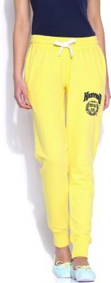 Harvard Solid Women's Yellow Track Pants