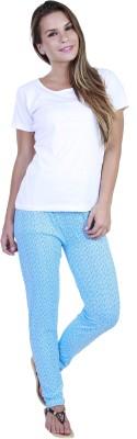 Eshelle Floral Print Women's Blue Track Pants
