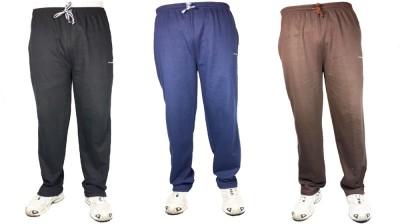 Bluedge Solid Men,s Black, Dark Blue, Brown Track Pants