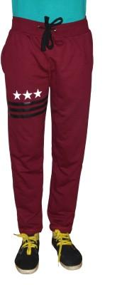 Gen Solid Men's Red Track Pants