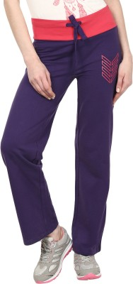 Ruse Solid Women's Purple Track Pants