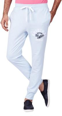 American Swan Printed Men's Light Blue Track Pants