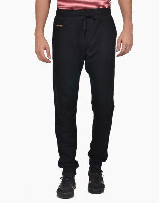 YOO Solid Men's Black Track Pants