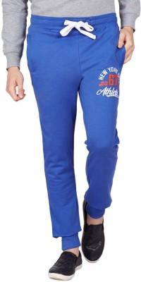 American Swan Solid Men's Blue Track Pants