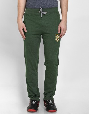 Cotton County Premium Solid Men's Green Track Pants
