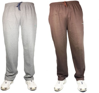 Bluedge Solid Men,s Grey, Brown Track Pants