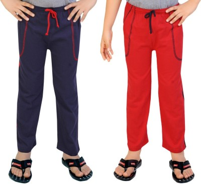 Be 13 Solid Baby Boy's Dark Blue, Red Track Pants