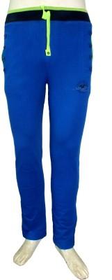 Riverstone Solid Men's Blue Track Pants