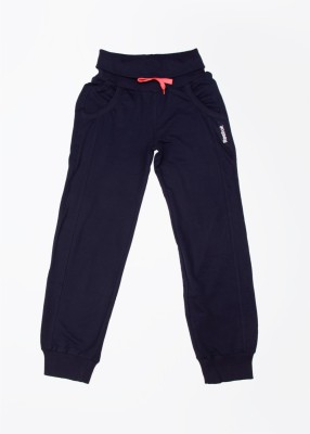 Reebok Solid Girl's Blue Track Pants
