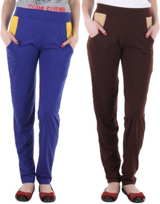 Coaster Solid Women's Blue, Brown Track Pants