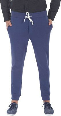Zobello Solid Mens Blue Track Pants