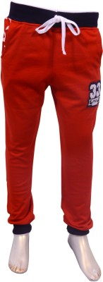 Puppet Nx Printed Boy,s Red Track Pants