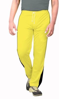 Sportee Solid Men's Yellow Track Pants