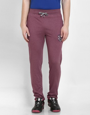 Cotton County Premium Solid Men's Maroon Track Pants