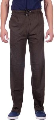 Sprig Striped, Solid Men's Green Track Pants
