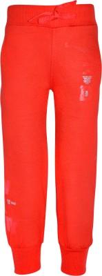 Gee & Bee Printed Boy's Red Track Pants