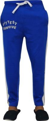 Vrexo Applique, Solid Men,s Blue, White Track Pants