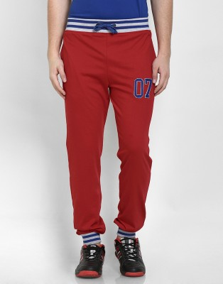 Cotton County Premium Solid Men's Red Track Pants