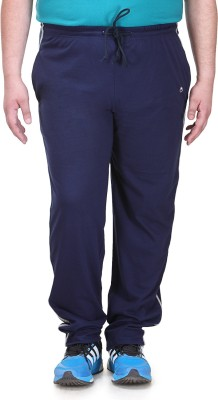 PlusS B Solid Men's Blue Track Pants