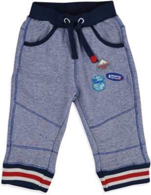 Mothercare Solid Baby Boy's Blue Track Pants