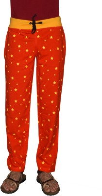 Crux&Hunter Printed Men's Orange Track Pants