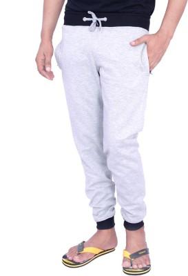 Christy World Solid Men's Grey Track Pants