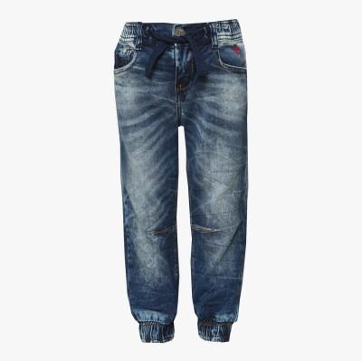Tales & Stories Solid Boy's Denim Blue Track Pants