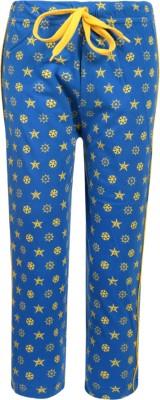 Sweet Angel Printed Girl's Blue Track Pants