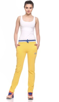 EX10SIVE Solid Women's Yellow Track Pants