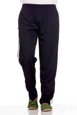 Demokrazy Solid Men's Dark Blue Track Pants