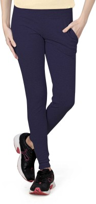 Towngirl Solid Women's Blue Track Pants